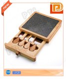 Suqare wooden cheese set with marble chopping board(5 pieces)