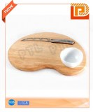 Lovely 3-piece cheese set with heart-shaped chopping board