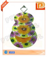 Triple-deck Ceramic Food Holder With Good-looking Pattern