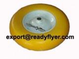 PU rueda de goma para la carretilla de rueda
