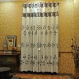 Tejido de cortina bordado