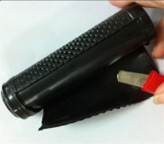 Plastic injection overmold and overmolding