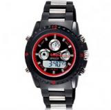 Hpolw 12581/montre chrono homme avec bracelet en silicone et cadran rouge ( grossiste chinois)