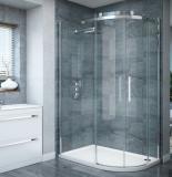Puerta de ducha de vidrio templado de corte redondo / curvado / circular