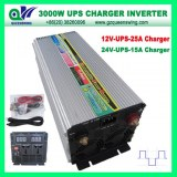 DC12V AC220V UPS 3000W Power Inverter with 25A Charger (QW-3000MUPSCV)