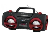 Radio Stéreo AEG SR 4359 BT Soundbox CD/MP3 avec Bluetooth (rouge)