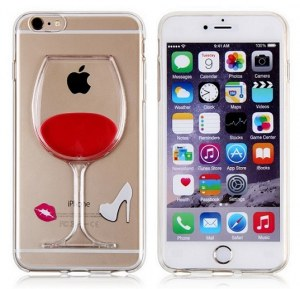 Red Wine Glass Liquid Phone Case for iPhone