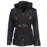 Ladies Black Textile Fashion Jacket USI-9630-A
