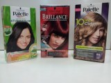 Lots of colors for hair liquidation.