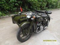 Hot Sale 750cc 32hp Army Green Motorcycle Sidecar Bike