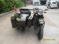 High configure army yellow customize motorcycle sidecar