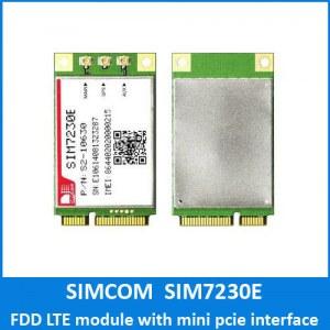 SIMCOM LTE module SIM7230E FDD LTE module suppor TCP/IP/IPV4/V6 Multi-PDP,MT PDP eCall