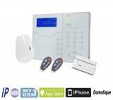 Panel de alarma SMART HOME de TCP / IP GSM RFID