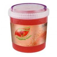 Perlas boba boba fresa, estallando el jugo de té boba