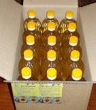 Aceite de girasol refinado en botellas de 1 litro para mascotas