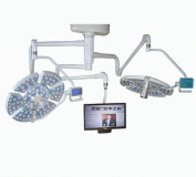 Luz quirúrgica de doble cabeza JQ-LED0707 con cámara e iluminación LCD180,000lux + 180...