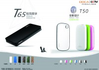 DOCA T50 mobile power bank 5000mah for mobile phone and dvd