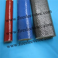 BST Colored Silcione Coated Fiberglass Braided Fireproof Sleeve