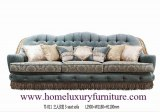 El sofá clásico del sofá de la tela de los sofás de la sala de estar de los sistemas de...