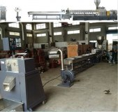 Water strand pelletizing system for twin screw extruder